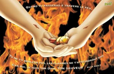 Quand tu passeras � travers le feu... - Poster PECHI