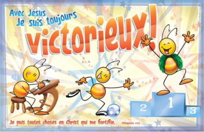 Avec J�sus je suis toujours victorieux - Poster PECHI