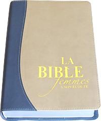 La Bible Femme � Son �coute FASE � Couverture fibro couleur sable et bleu -