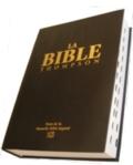 Illustration: Bible Thompson NBS avec onglets, couverture cartonnée, tranche blanche.
