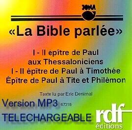 Illustration: I - II Thessaloniciens, I - II Timothée, Tite et Philémon