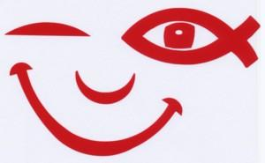 Illustration: Autocollant «SMILE ICHTUS» (rouge)