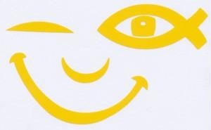 Illustration: Autocollant «SMILE ICHTUS» (jaune citron)